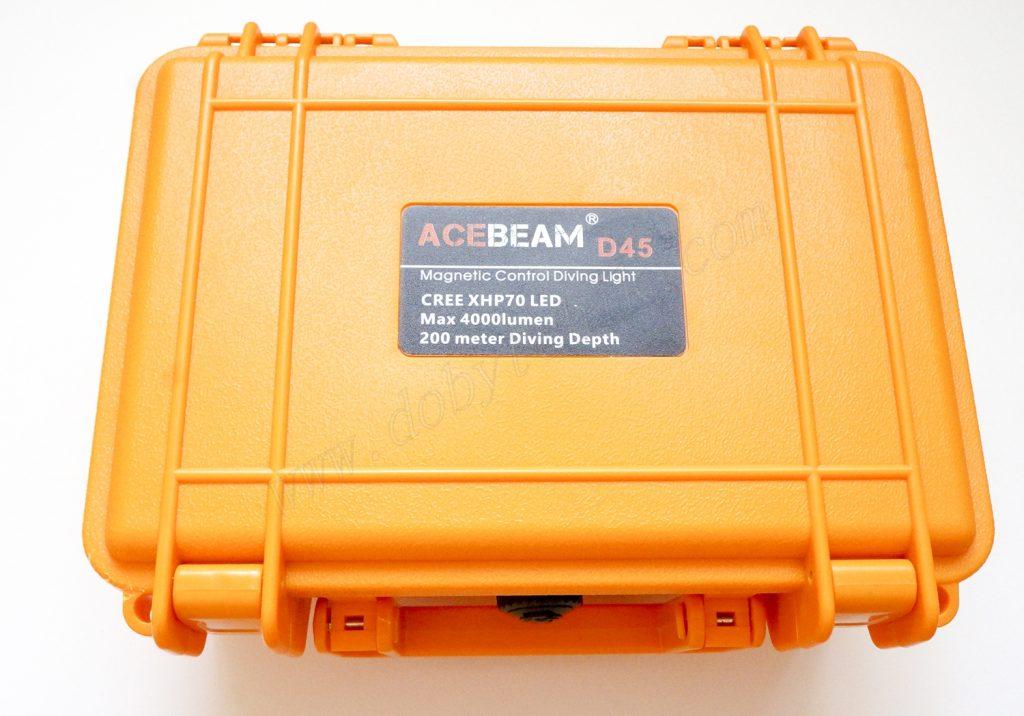 Пластиковый чемоданчик для храения и перености подводного дайверского фонаря Acebeam D45