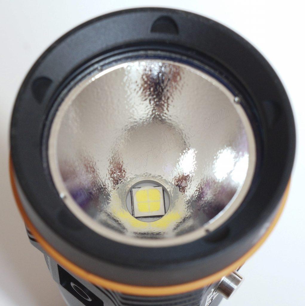 Светодиод и текстурированный отражатель подводного фонаря для дайвинга Acebeam D45