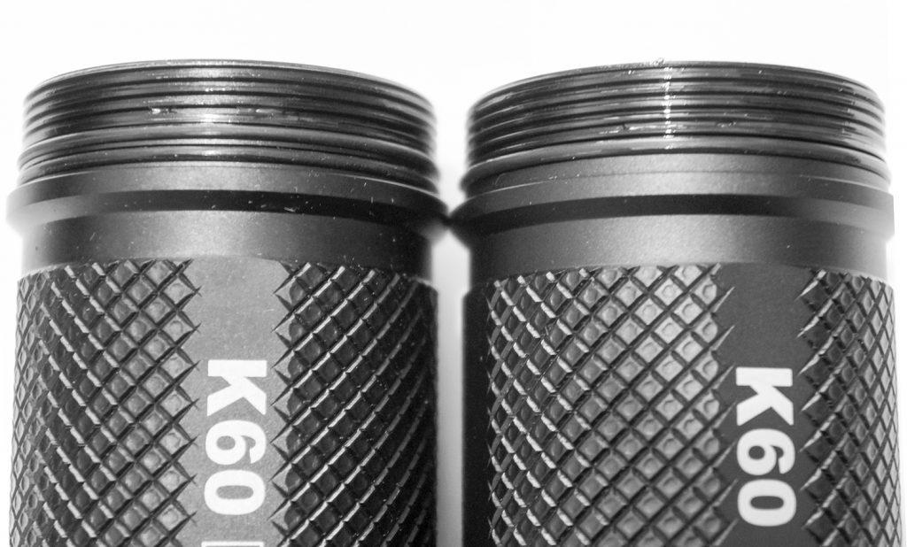 Отличие дайверской версиии фонаря Acebeam K60 от обычного фонаря