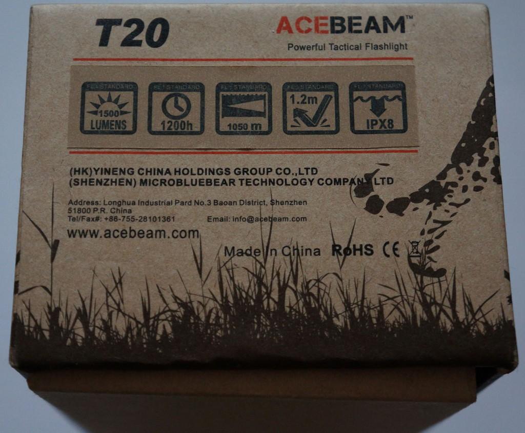 Пиктограммы с краткими характеристиками тактического дальнобойного фонаря Acebeam T20