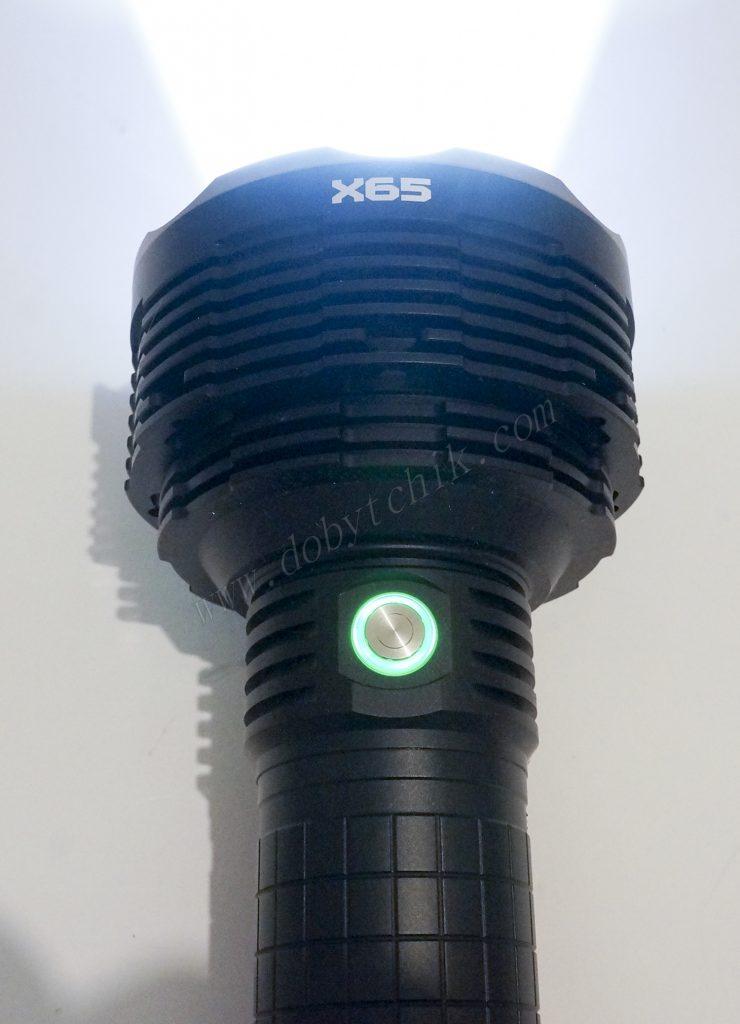 Индикаторная кнопка управления фонарем высокой мощности Acebeam X65