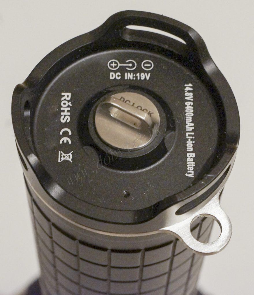 Заглушка коннектора зарядного устройства поискового фонаря высокой мощности Acebeam X65
