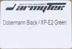 Этикетка на коробке для фонаря Armytek Doberman Green