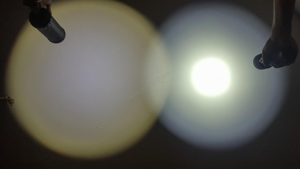 Сравнение подводного фонаря Ferei W163B с фонарем Acebeam D400