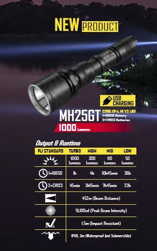 Тактический фонарь новой версии Nitecore MH25GT