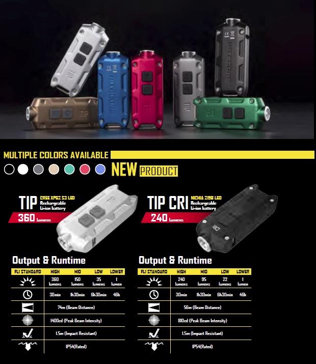 Новая модель светодиодного фонарика Nitecore Tip