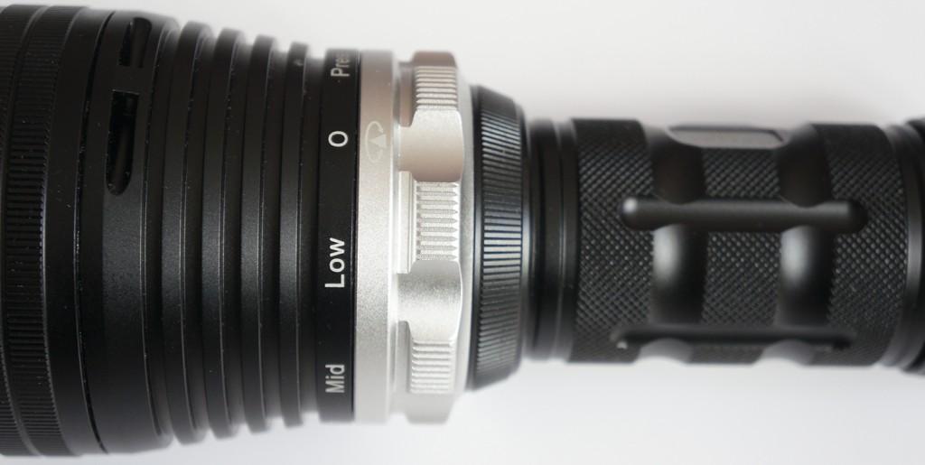 Магнитное кольцо управления фонарем и выбора режимов яркости на Xtar D35