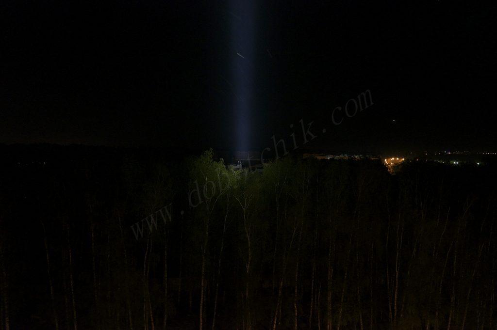 Проверка фонаря Armytek Barracuda на дальность свечения