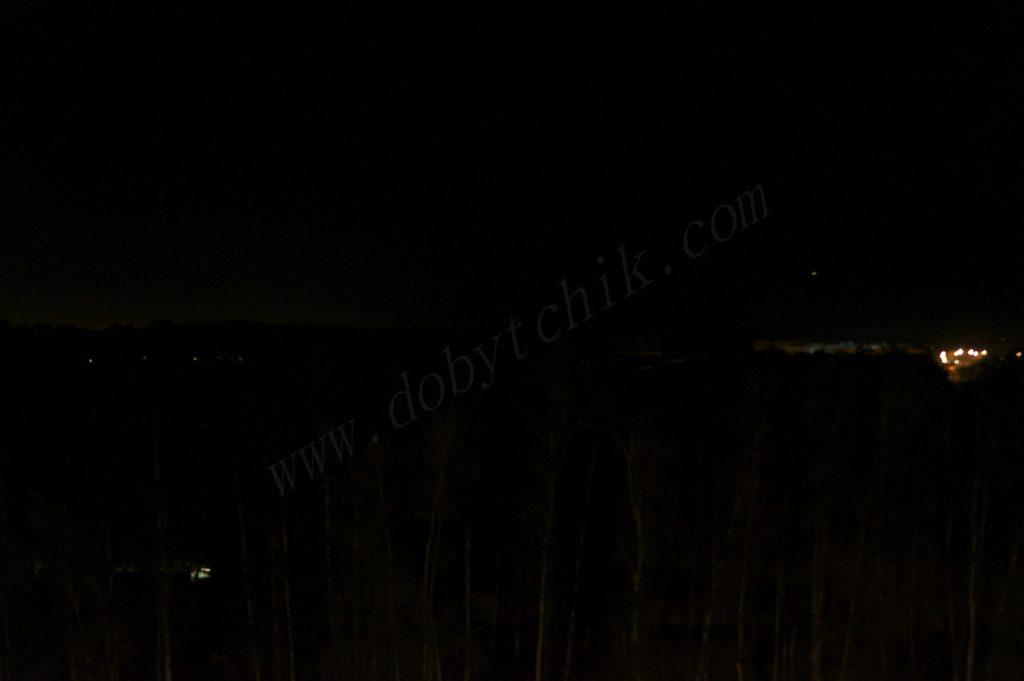 Контрольный снимок при проверке дальнобойных фонарей