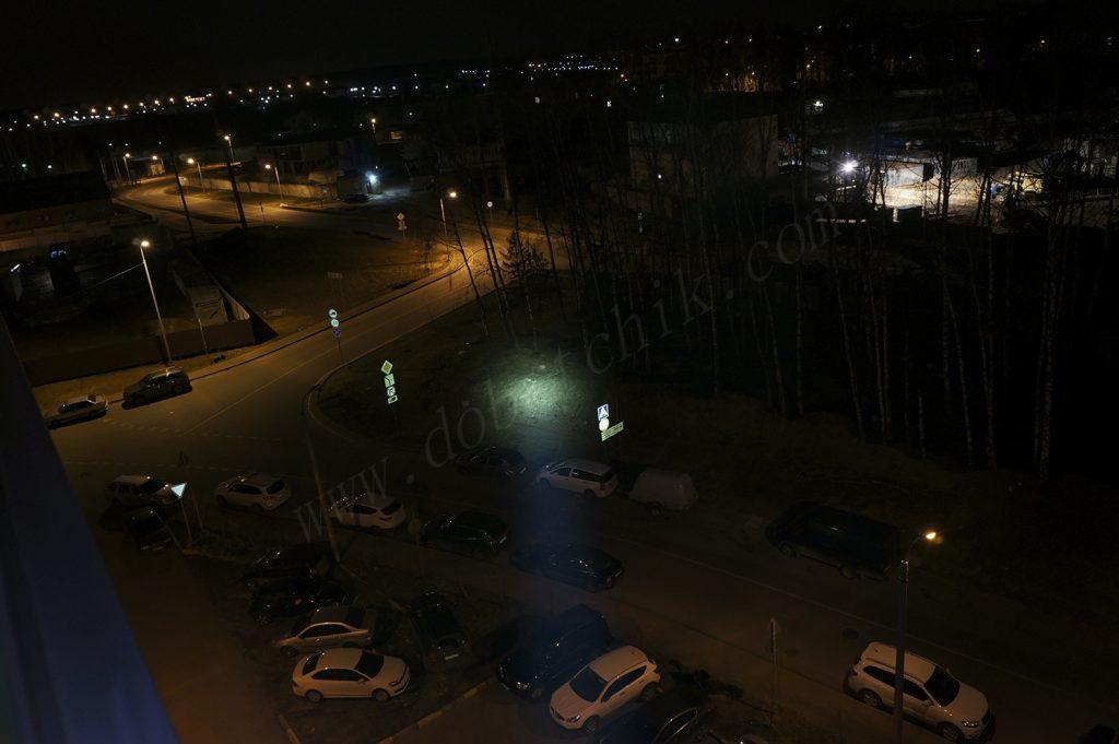 Тест света дальнобойного фонаря Olight M3X на 80 метров