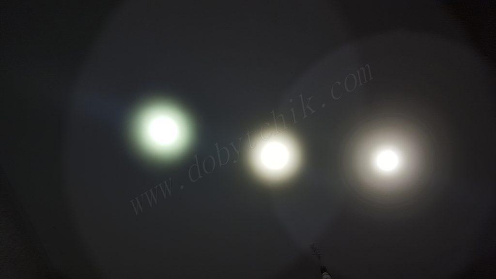 Тест света фонарей в одном месте