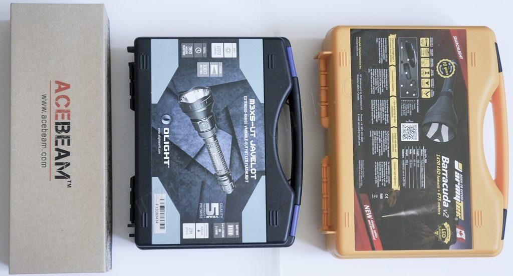 Упаковка для хранения дальнобойных фонарей Acebeam T20, Armytek Barracuda, Olight M3XS-UT