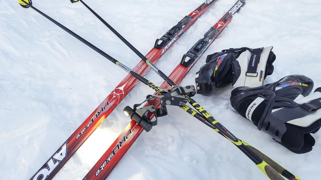 Налобный фонарь для лыжника