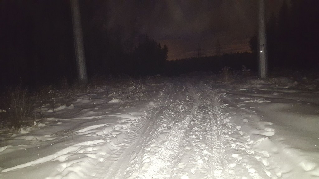 Комфортный режим использования фонаря для беговых лыж с широким лучом