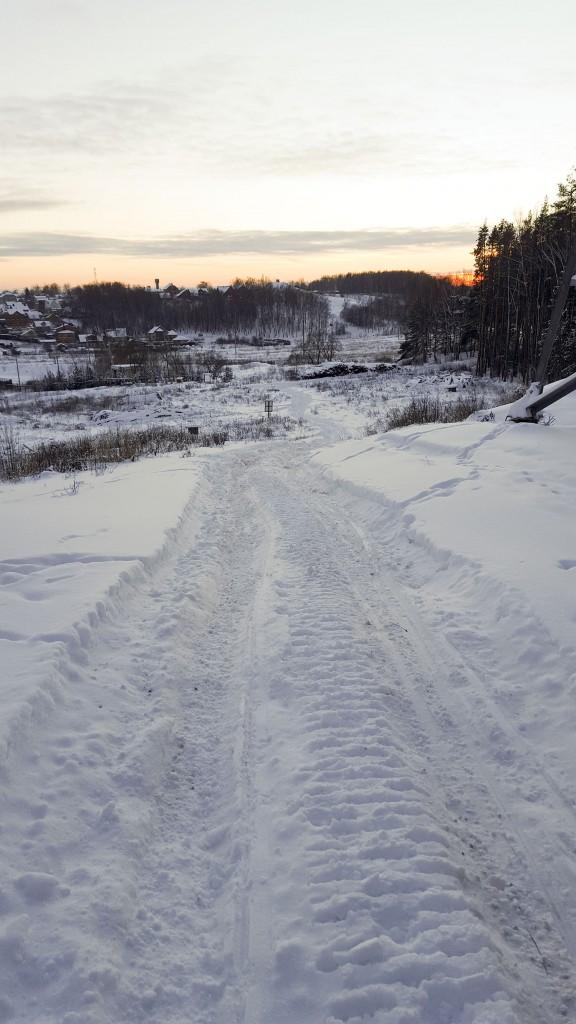 Горка для спуска на беговых лыжах