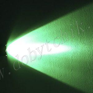 Луч светодиодного фонаря зеленого цвета