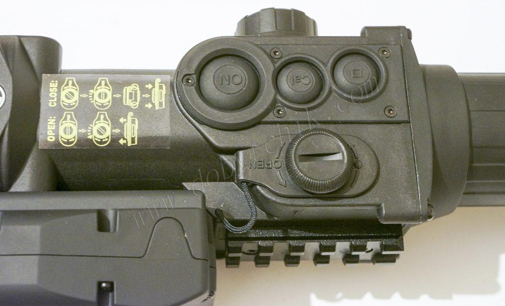 Кнопки управления тепловизионным прицелом Pulsar Apex LRF XD75 с лазерным дальномером