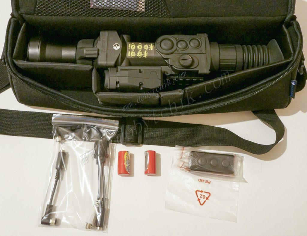 Полный набор аксессуаров в комплекте поставки тепловизионного прицела Pulsar Apex LRF XD75 с дальномером