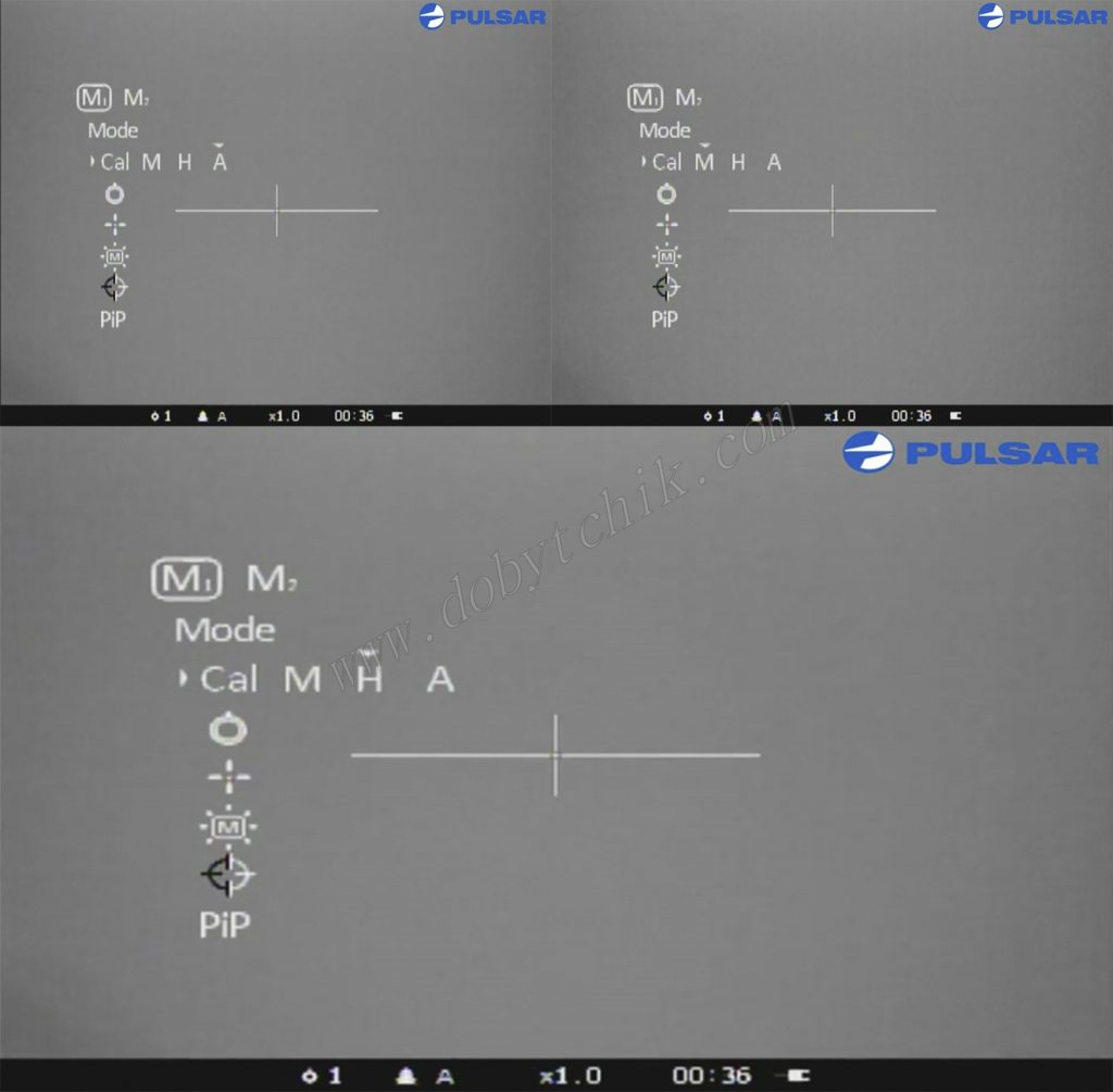 Режимы калибровки тепловизионного прицела Pulsar Apex LRF XD75 с дальномером