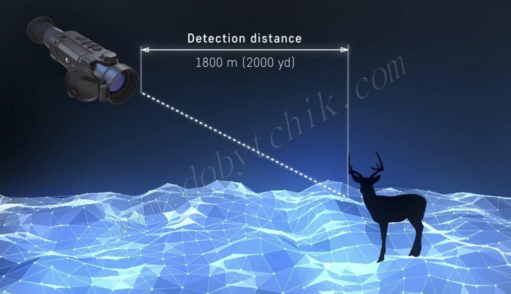 Повышенная дальность обнаружения цели у прицела Pulsar Trail XP/XQ