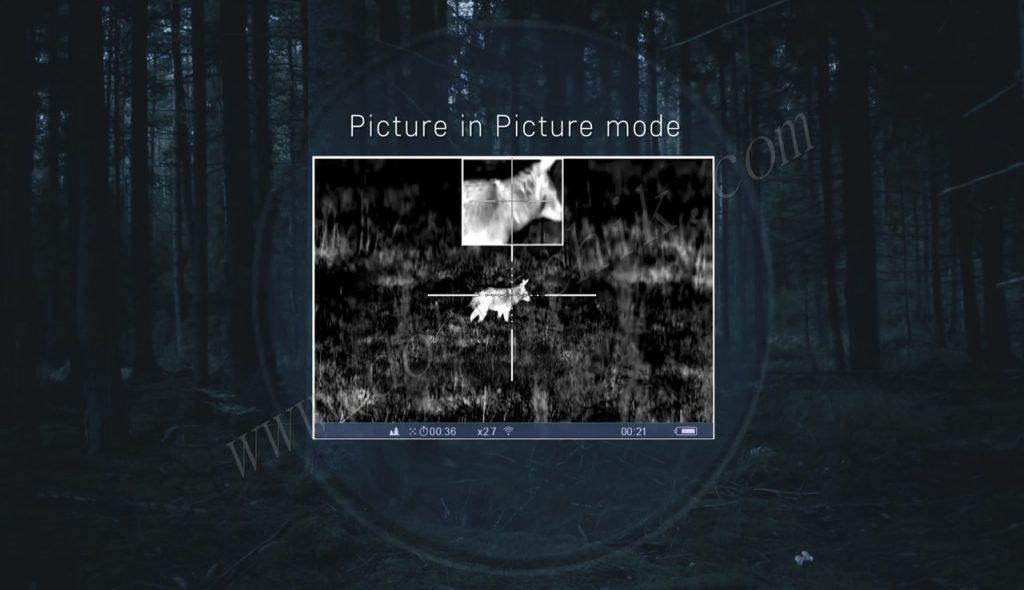 "Функция ""Картинка в картинке"" у тепловизионного прицела Pulsar Trail XP/XQ"
