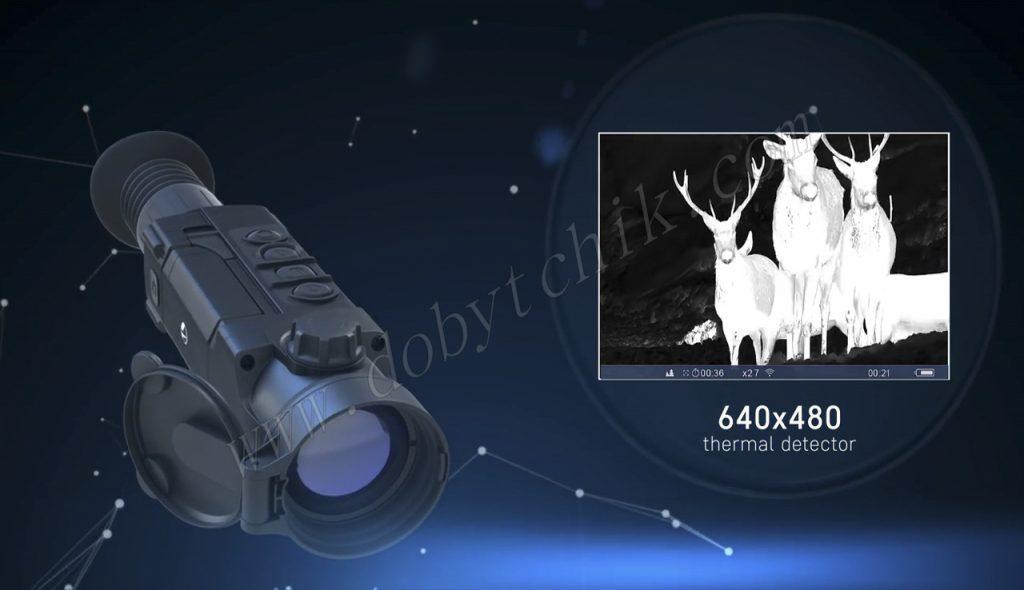 Высокое разрешение сенсора тепловизионного прицела Pulsar Trail XP/XQ