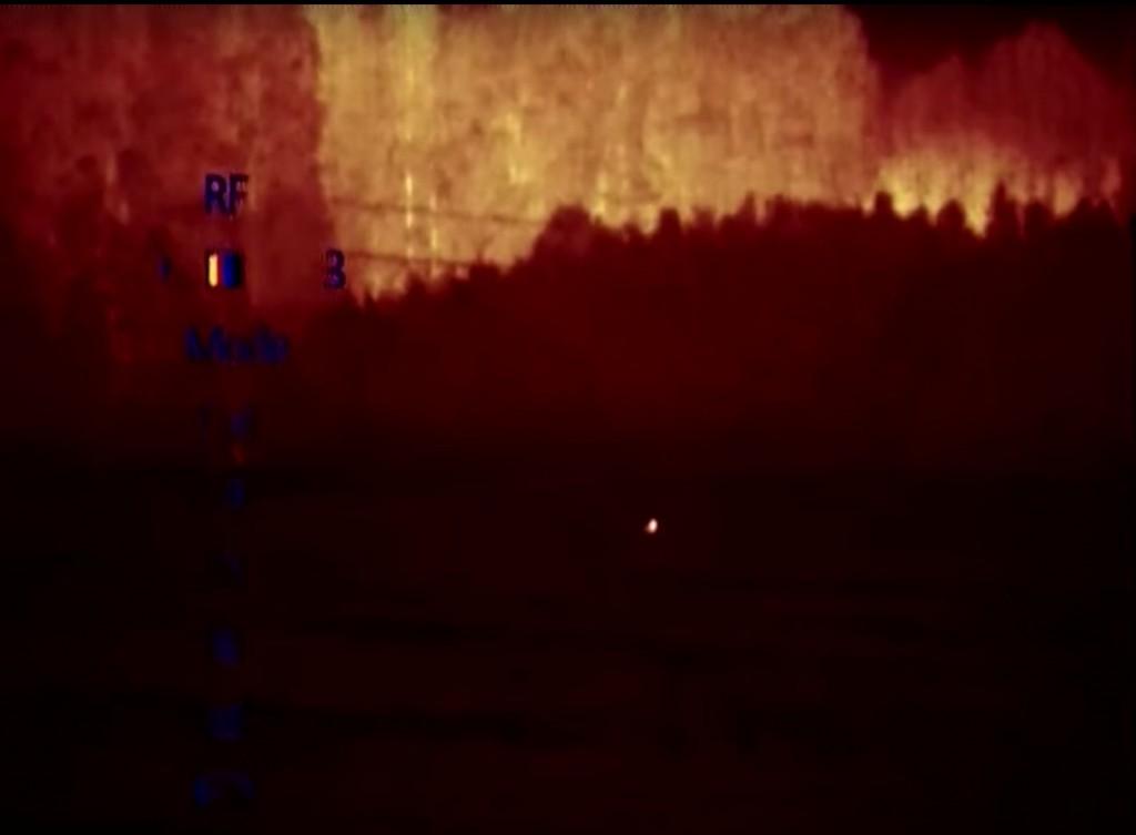 Режим тепловизора Pulsar Quantum XD38S красный монохром