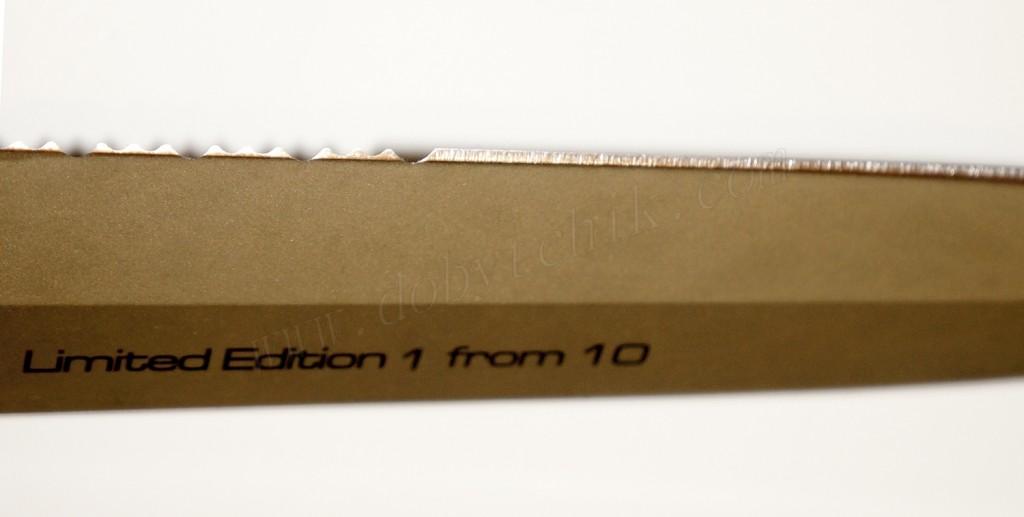Качество заточки режущей кромки и цвет клинка кинжала Extrema Ratio ADRA Operativo Gold Limited