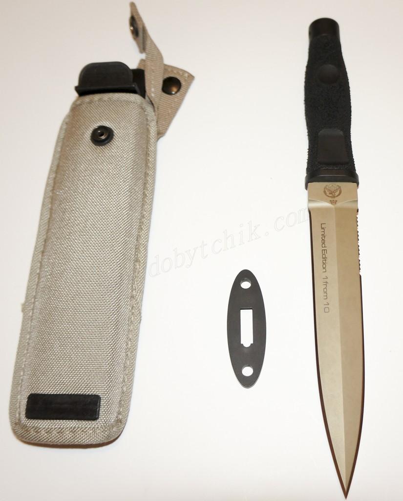 Нож Extrema Ratio ADRA Operativo Gold Limited гарда и парадные ножны
