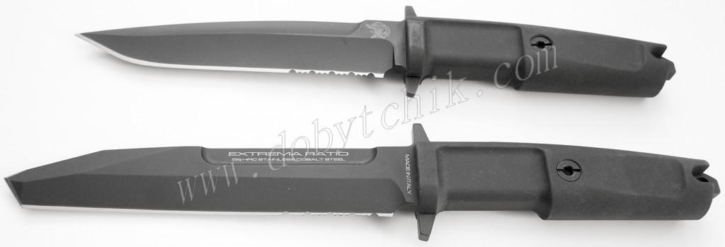 Сравнение габаритов ножей Col Moschin и Fulcrum